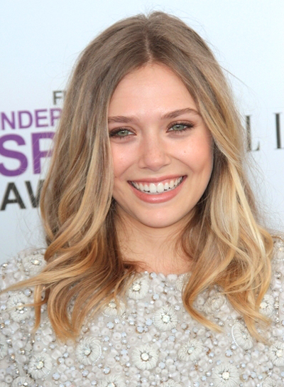 Elizabeth Olsen Medium, Sexy, Blonde Hairstyle