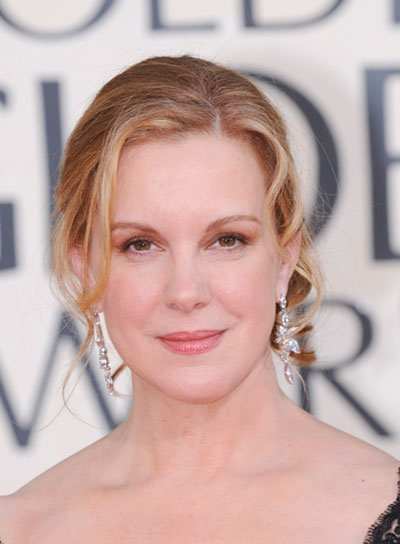 Elizabeth Perkins Romantic, Curly, Blonde Updo