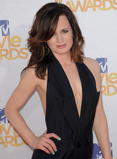 Elizabeth Reaser Medium, Tousled, Sophisticated Hairstyle