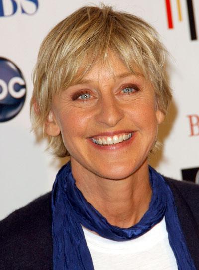 Ellen Degeneres Short, Blonde Shag