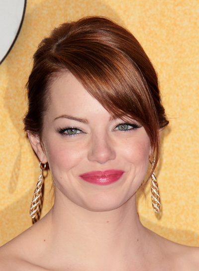Emma Stone Chic, Romantic, Red, Party Updo