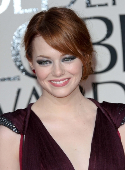 Emma Stone Chic, Sophisticated, Formal, Red Updo