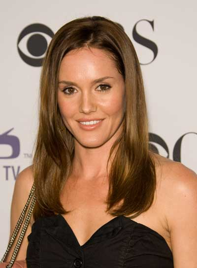 Erinn Hayes Medium, Straight, Sophisticated, Brunette Hairstyle