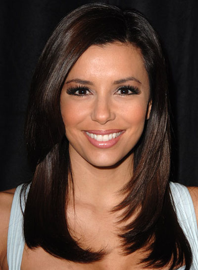 Eva longoria beauty riot eva longoria brunette straight layered hairstyle urmus Choice Image