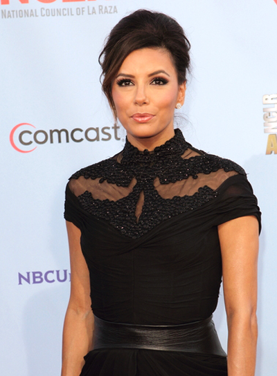 Eva Longoria's Sophisticated, Brunette, Party, Updo Hairstyle