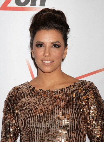 Eva Longoria Party, Brunette Updo