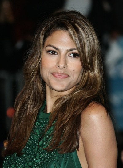 Eva Mendes Long, Brunette Hairstyle