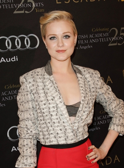 Evan Rachel Wood Edgy, Funky, Sophisticated, Romantic, Blonde Hairstyle