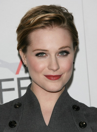 Evan Rachel Wood Chic, Edgy, Blonde Updo