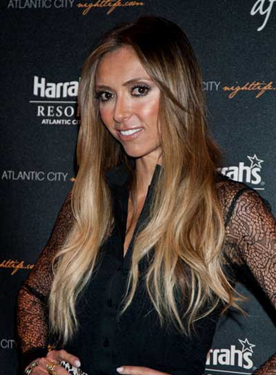 Giuliana Rancic Long, Tousled, Blonde Hairstyle