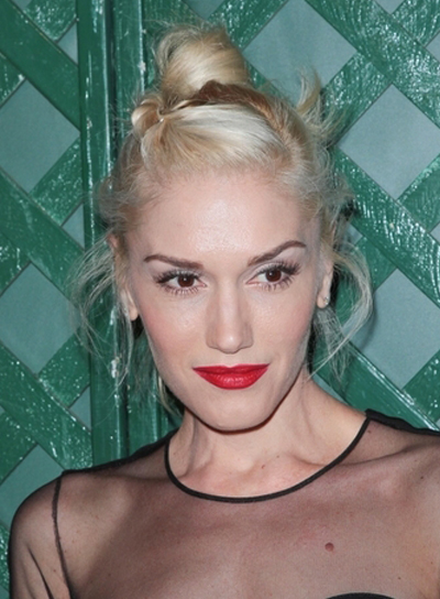 Gwen Stefani's Funky, Blonde, Updo Hairstyle