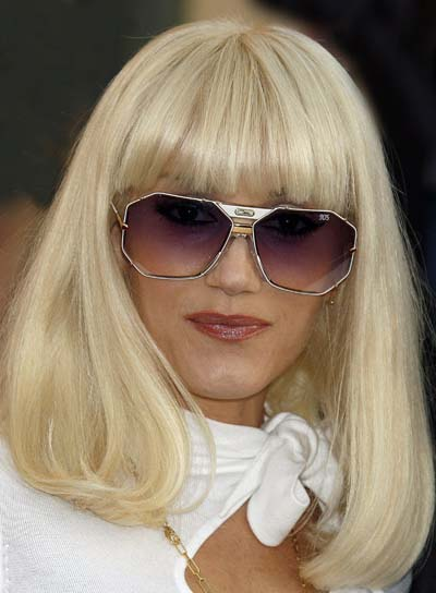 Gwen Stefani Medium, Straight Hairstyle with Bangs