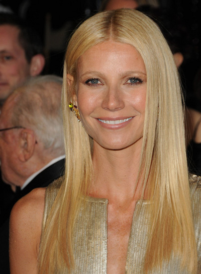 Gwyneth Paltrow Long, Straight, Blonde Hairstyle