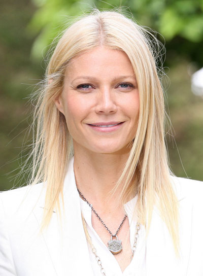Gwyneth Paltrow Straight, Blonde Hairstyle