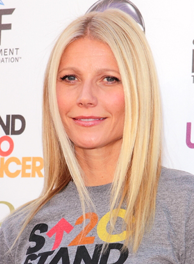 Gwyneth Paltrow's Straight, Chic, Medium, Blonde Hairstyle