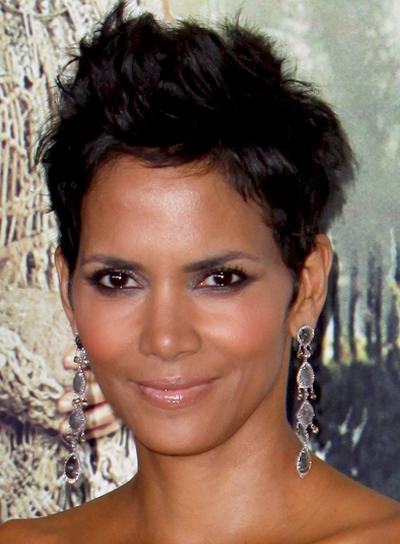 Halle Berry's Short, Funky, Brunet