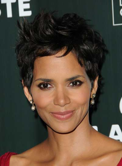 Halle Berry Sexy, Short, Black Hairstyle