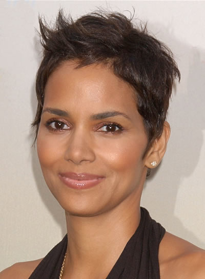 short hair style for oval face halle berry riot 6804 | halle berry short straight oval
