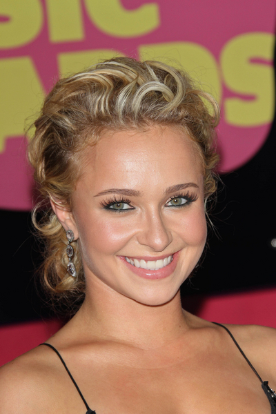 Hayden Panettiere's Curly, Chic, Blonde, Updo Hairstyle
