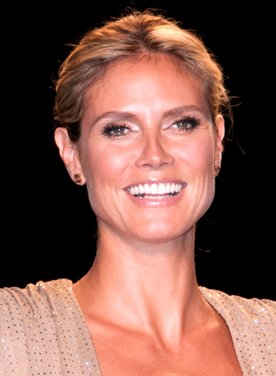 Heidi Klum's Chic, Sophisticated, Blonde, Updo Hairstyle