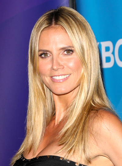 Heidi Klum's Long, Sexy, Blonde, Straight Hairstyle