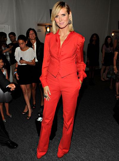 Heidi Klum Short, Straight, Sophisticated, Blonde Hairstyle