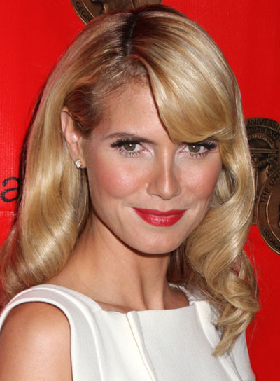 Heidi Klum Sophisticated, Wavy Hairstyle