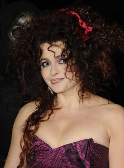 Helena Bonham Carter Long, Curly, Tousled, Funky, Brunette Hairstyle
