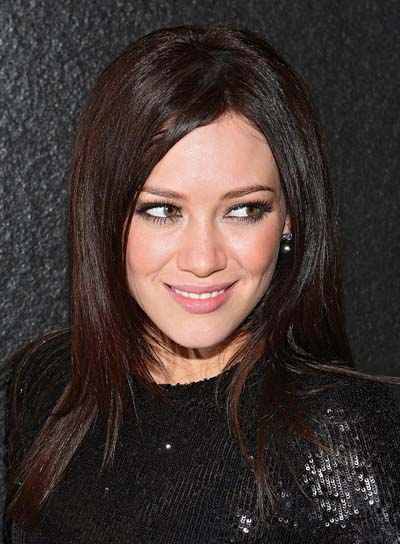 Hilary Duff Long, Straight, Layered Hairstyle