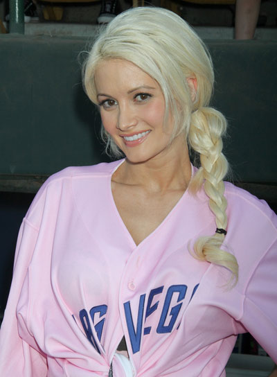 Holly Madison Blonde Hairstyle with Braids and Twists