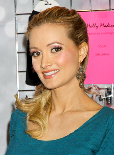 Holly Madison's Long, Wavy, Blonde, Ponytail Hairstyle