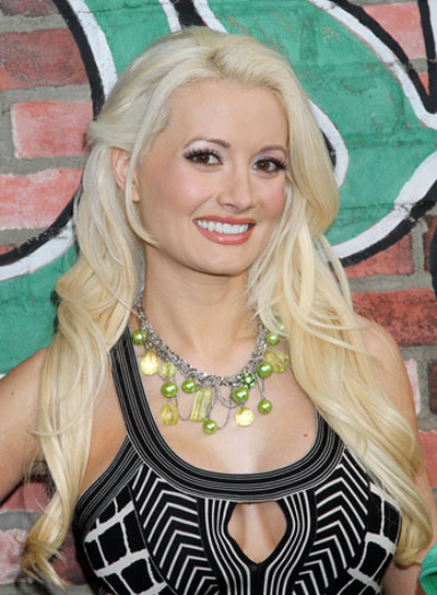 Holly Madison Long, Sexy, Blonde Hairstyle