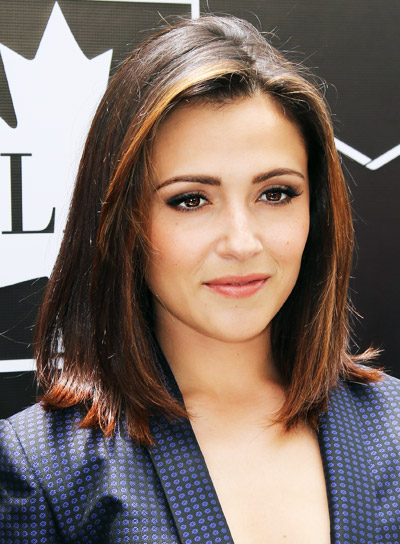 Italia Ricci's Medium, Straight, Brunette, Sophisticated Hairstyle