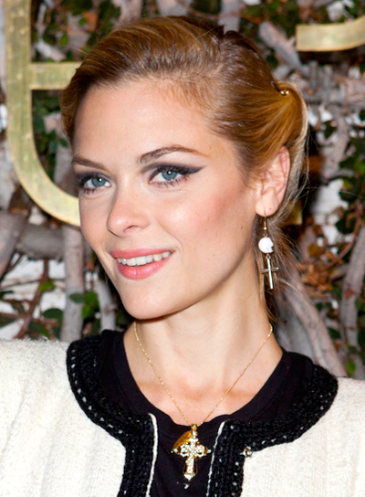 Jaime King's Blonde, Chic, Romantic, Updo Hairstyle