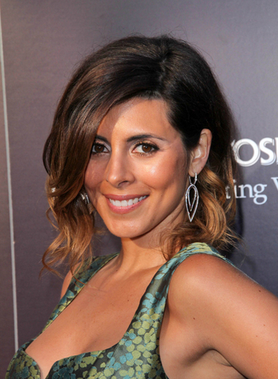 Jamie-Lynn Sigler Short, Wavy, Tousled, Sexy, Brunette Hairstyle