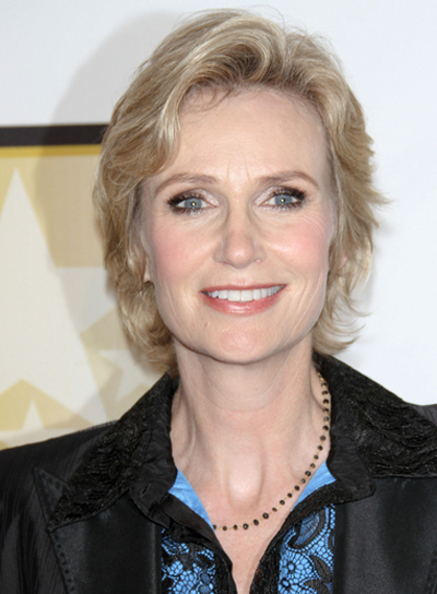 Jane Lynch Short, Romantic, Blonde Hairstyle