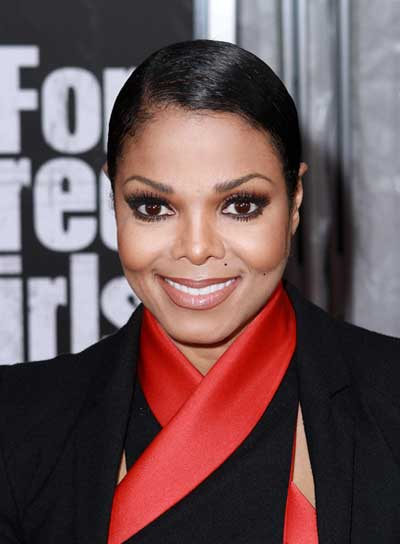 Janet Jackson Chic, Black, Straight Updo