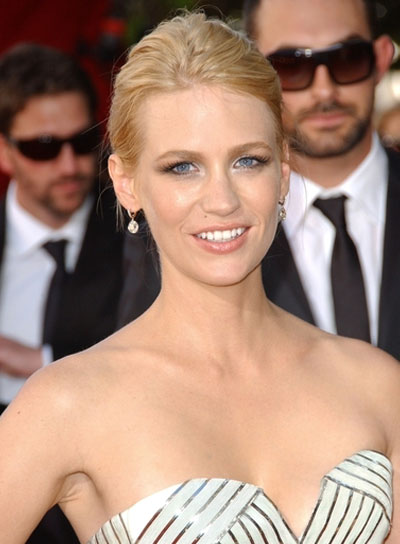 January Jones Chic, Blonde Updo