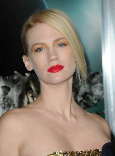 January Jones Chic, Straight, Blonde Updo