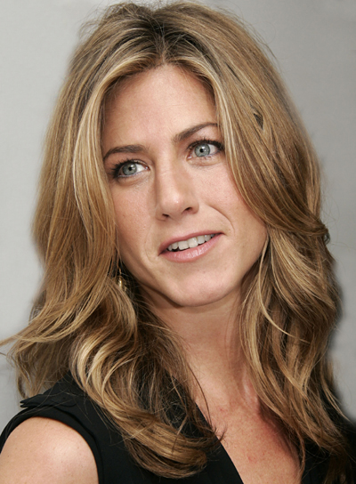 Jennifer Aniston Long, Wavy Hair with Highlights