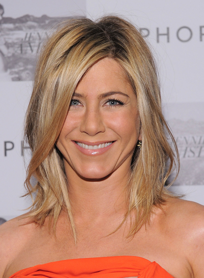 Jennifer Aniston Medium, Layered, Blonde Hairstyle