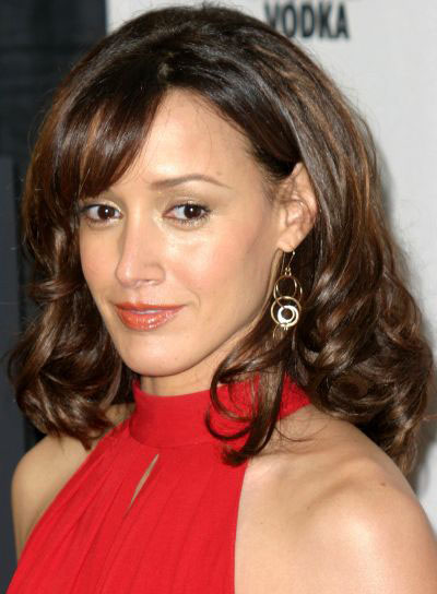 Jennifer Beals Medium, Curly Hairstyle with Bangs