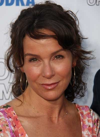 Jennifer Grey Tousled, Romantic, Brunette Half Updo