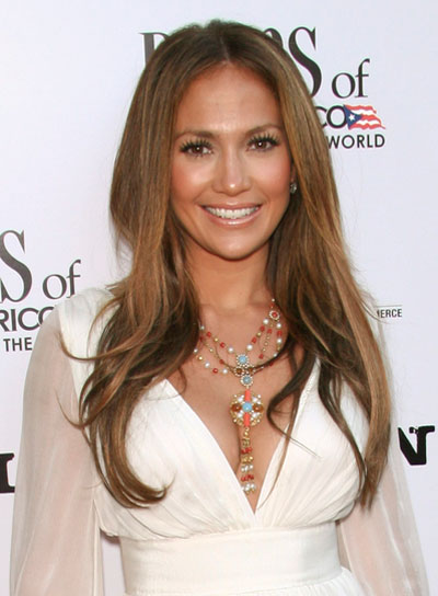 Jennifer Lopez Brunette, Long Hairstyle