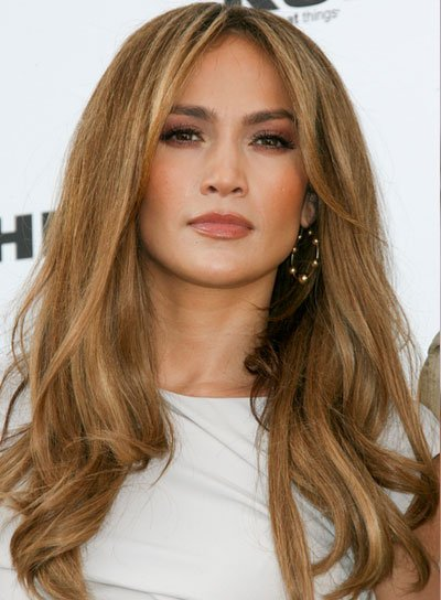 Jennifer Lopez Long, Thick, Wavy Hairstyle