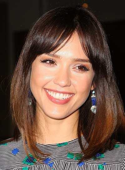 Jessica Alba Medium, Brunette Bob