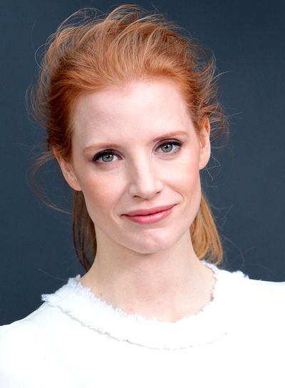 Jessica Chastain's Red, Edgy, Chic, Ponytail Hairstyle