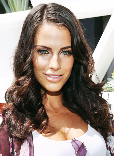 Jessica Lowndes with a Medium, Curly, Brunette, Sexy Hairstyle Pictures