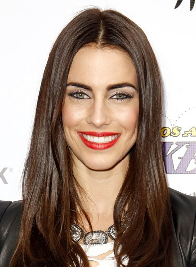Jessica Lowndes' Long, Brunette, Straight, Chic Hairstyle