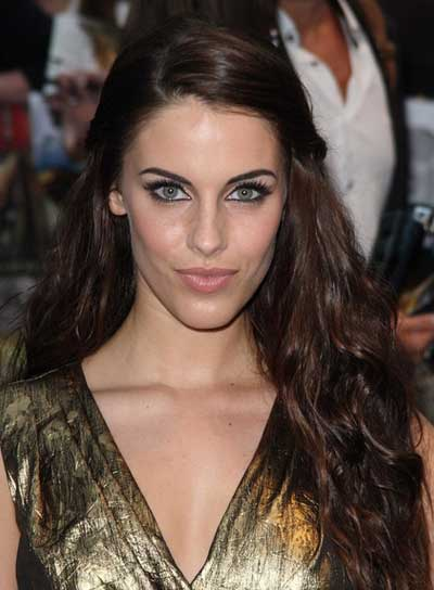 Jessica Lowndes Long, Wavy, Brunette Hairstyle with Braids and Twists